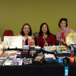 Gloria Kumagai, Karen Lucas & Lisa Shakerin at the Normandale Garden Boutique representing the JACL
