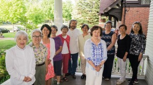 Members of the TC JACL Education Committee. L to R: Lucy Kirihara, Janet Carlson, Cheryl Hirata-Dulas, Joyce Miyamoto, Lillian Grothe, Steve Ozone, Carolyn Nayematsu, Sally Sudo, Sylvia Farrells, Karen Lucas, and Gloria Kumagai. Missing: Bud Nakasone.