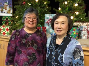 Speakers Sylvia Farrells and Sally Sudo at Bloomington Creekside Community Center, December 7, 2015.
